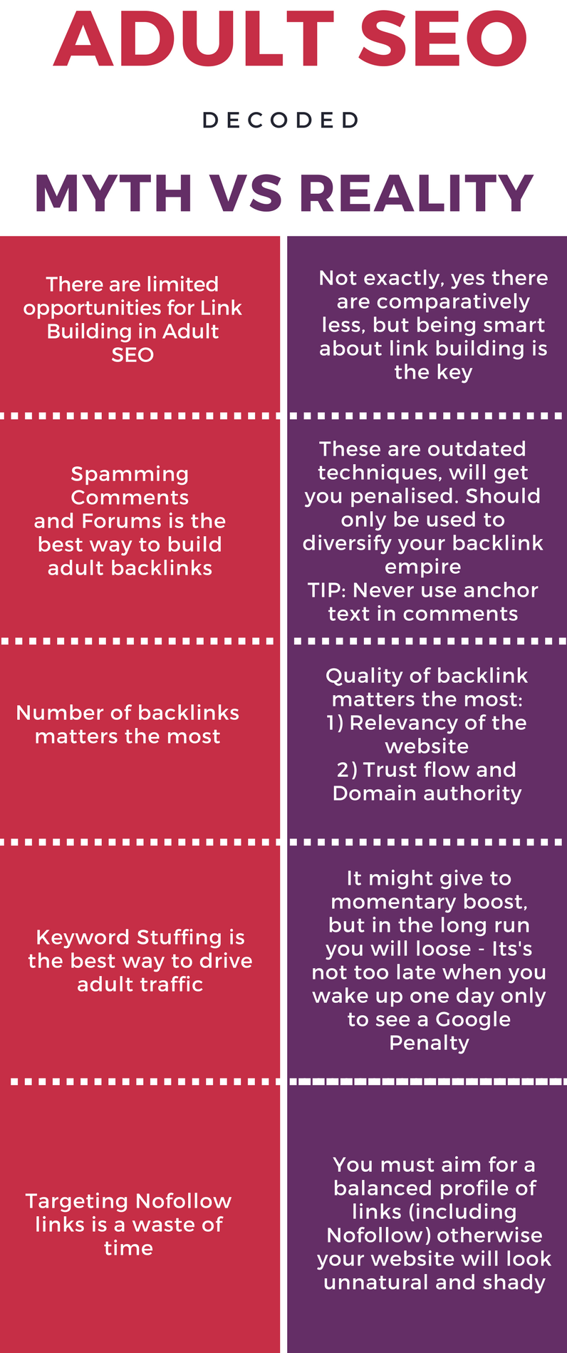 Adult SEO infographic