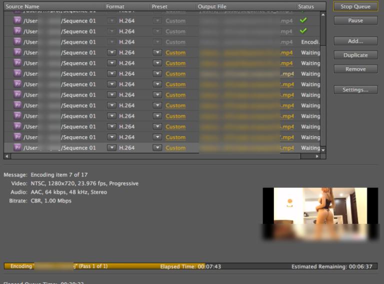 Automate Premiere Pro export