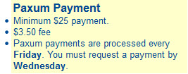juicyads Paxum payment requirements