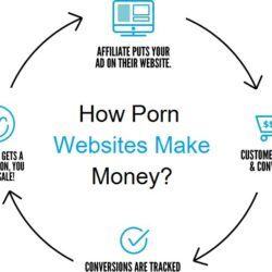 A circle showing the ecology of how porn sites make money
